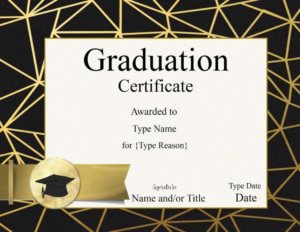 Ideas For Graduation Gift Certificate Template Free On With Regard To Free Graduation Gift Certificate Template Free