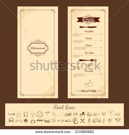 Illustration Of Template For Menu Card With Cutlery On In Quality Frequent Diner Card Template
