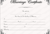 Intimacy Marriage Certificate Template For Word Within Printable Certificate Of Marriage Template