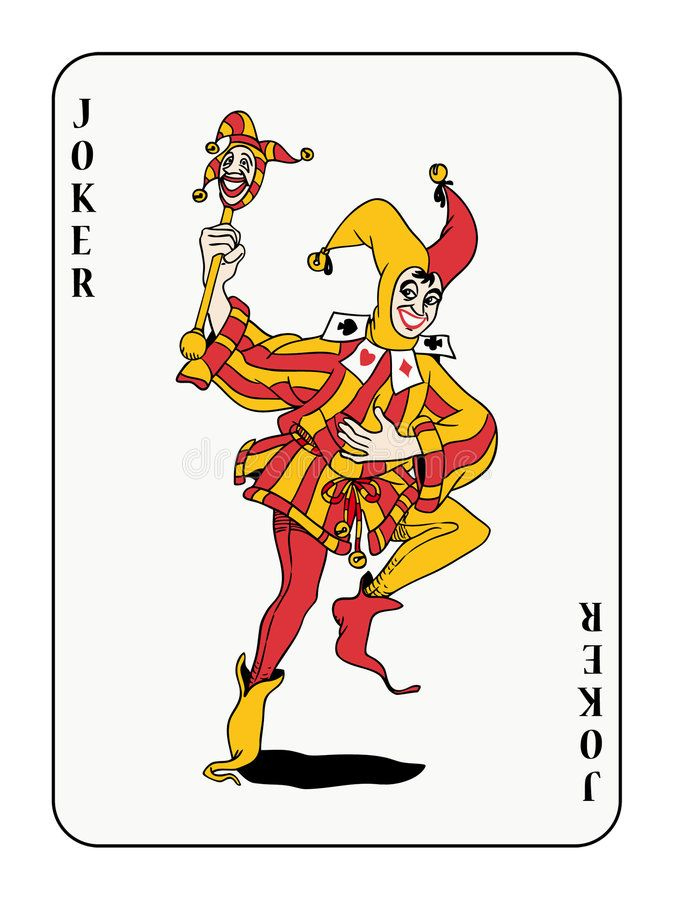 Joker. Playing Card With Red And Golden Costume , #Aff Inside Joker Card Template
