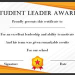 Leadership Award Certificate Template (7) Templates Within 11+ Leadership Award Certificate Template