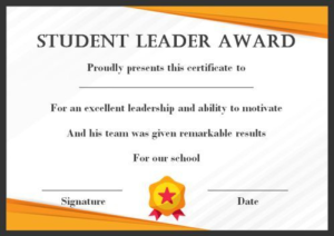 Leadership Award Certificate Template (7) Templates Within 11+ Leadership Award Certificate Template