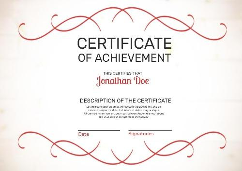 Make Your Own Certificate Of Achievement In Seconds In Certificate Of Accomplishment Template Free