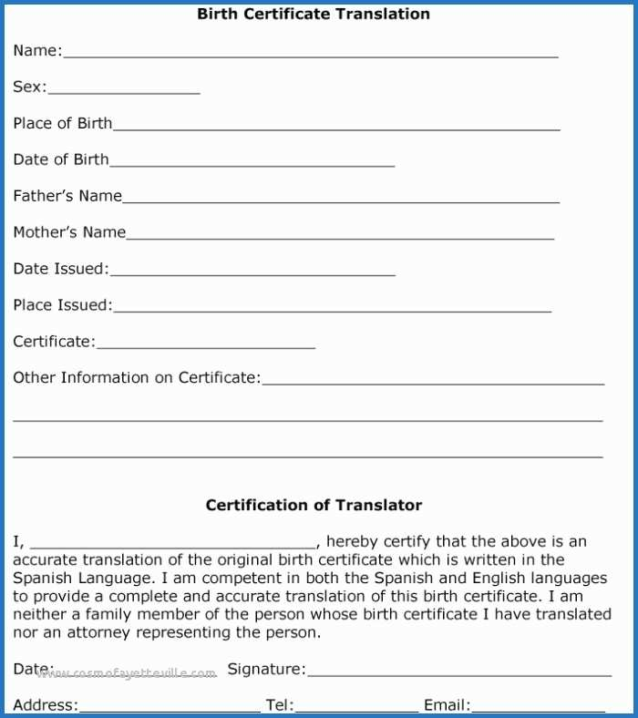 Marriage Certificate Translation From Spanish To English With Free Marriage Certificate Translation Template