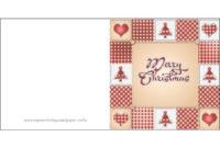 Merry Christmas Card Template | Free Printable Papercraft With Free Printable Holiday Card Templates