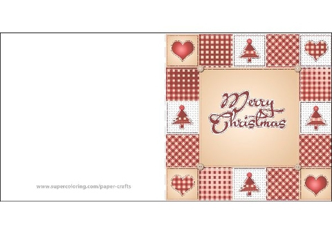 Merry Christmas Card Template | Free Printable Papercraft With Free Printable Holiday Card Templates
