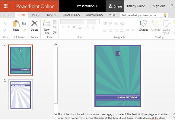 Milestone Birthday Card Template For Powerpoint Online For Greeting Card Template Powerpoint