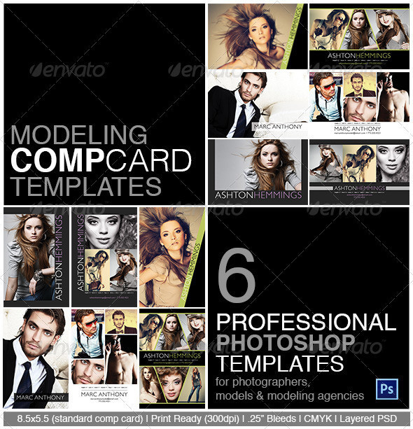 Model Comp Card Photoshop Template On Behance In Model Comp Card Template Free