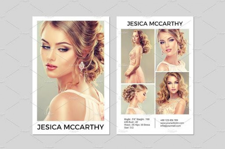 Model Comp Card Template ~ Addictionary Intended For Model Comp Card Template Free