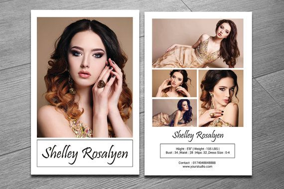 Model Comp Card Template Modeling Comp Card Ms With Best Model Comp Card Template Free