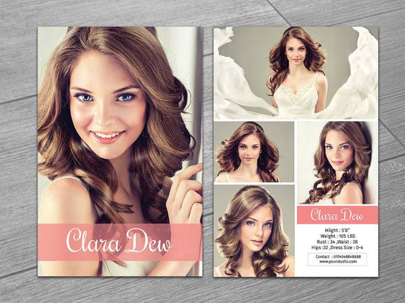 Modeling Comp Card Template | 5.5X8.5 Model Card | Photoshop For Model Comp Card Template Free