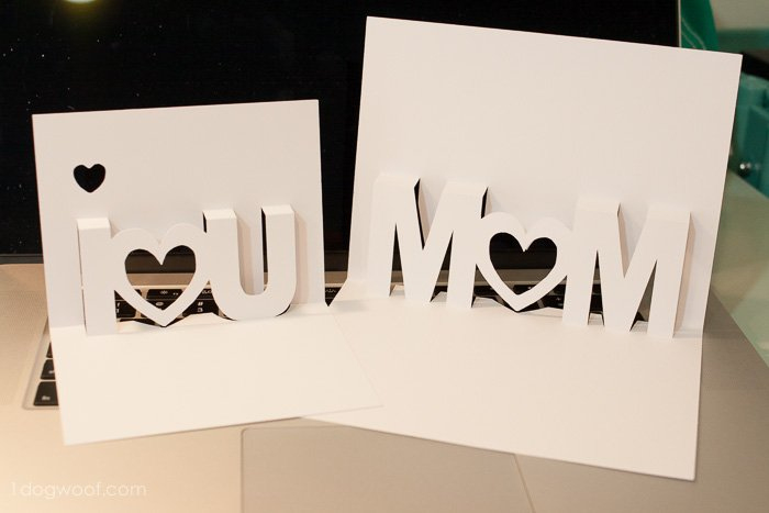 Mom, I Love You Pop Up Cards With Free Silhouette Cut Files Pertaining To I Love You Pop Up Card Template