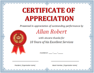 Ms Word Certificate Of Appreciation   Office Templates Online In Free Certificate Templates For Word 2007