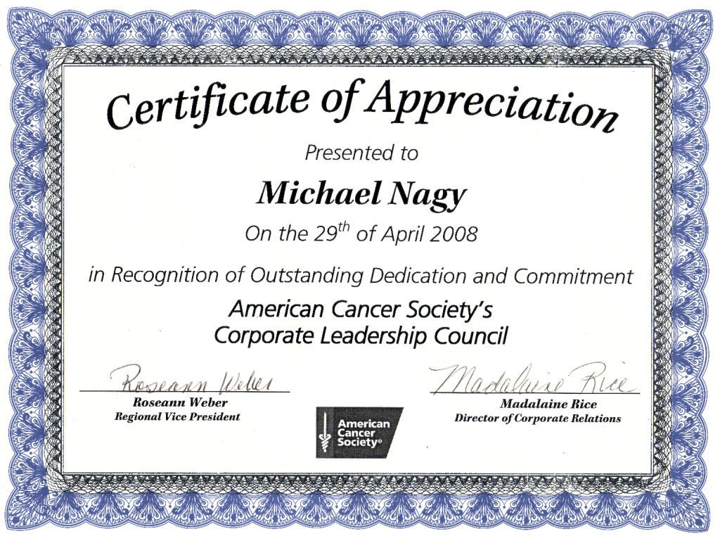 Nice Editable Certificate Of Appreciation Template Example With Regard To Thanks Certificate Template