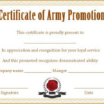 Officer Promotion Certificate Template | Certificate For Officer Promotion Certificate Template