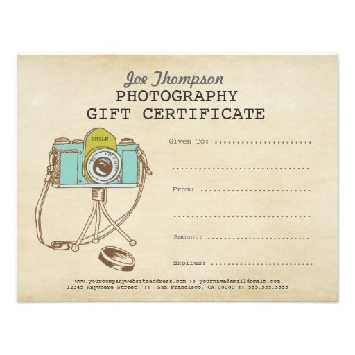 Photographer Photography Gift Certificate Template | Zazzle For Free Photography Gift Certificate Template