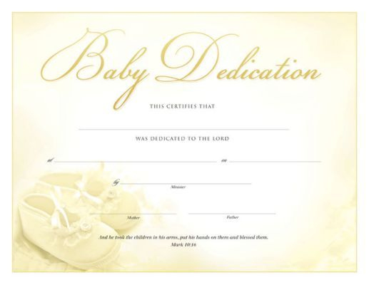 Pin On Baby Dedication For Baby Dedication Certificate Template