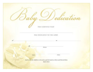 Pin On Baby Dedication Pertaining To Baby Christening Certificate Template