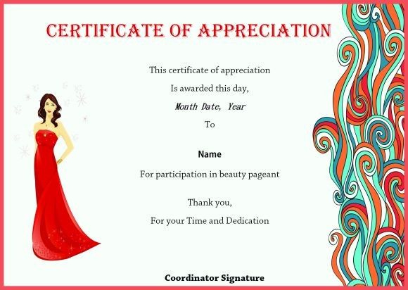 Pin On Beauty Pageant For 11+ Pageant Certificate Template