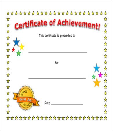 Pin On Certificate Design For Certificate Of Achievement Template For Kids