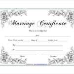 Pin On Certificate Design For Certificate Of Marriage Template