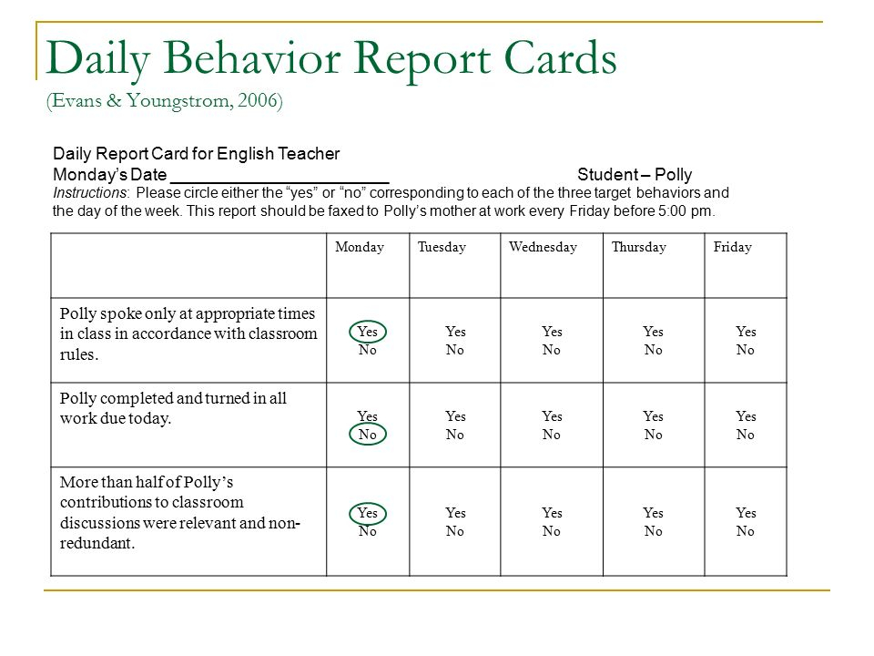 Pin On Teaching Material For Free Daily Report Card Template For Adhd