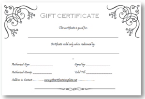 Pinget Certificate Templates On Beautiful Printable Gift With 11+ Company Gift Certificate Template