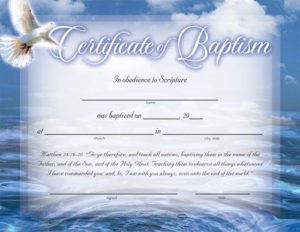 Pinkatherine Arviso On Fran In 2020   Certificate In Christian Baptism Certificate Template