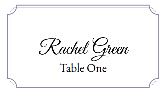 Place Card Me A Free And Easy Printable Place Card Maker Throughout 11+ Free Place Card Templates Download