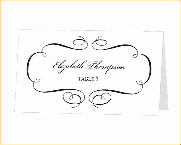 Place Card Template Free Download Fresh Place Cards Template For Free Place Card Templates Download