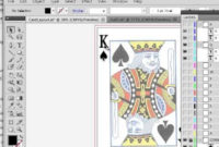 Playing Card Design In Illustrator Intended For Professional Playing Card Template Illustrator