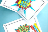 Pop Up Best Dad Card Printable Red Ted Art Make Crafting Throughout 11+ Diy Pop Up Cards Templates
