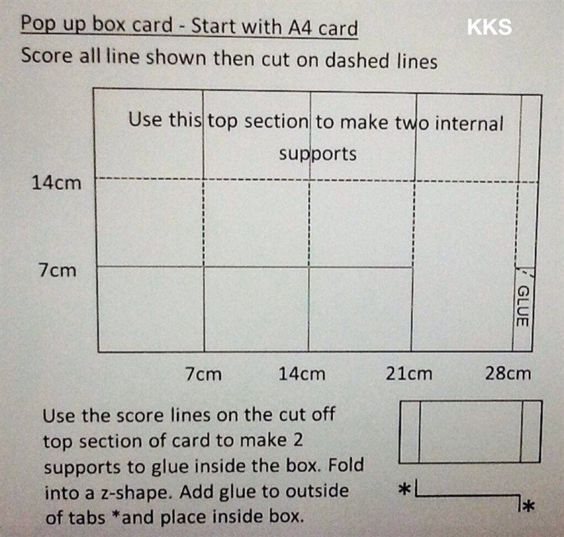 Pop Up Box Card Measurements | Docrafts | Pop Up Box Within Quality Pop Up Card Box Template