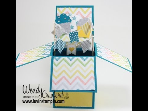 Pop Up Box Card Tutorial With Pop Up Card Box Template