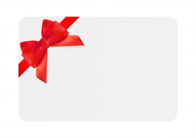 Premium Vector | Blank Gift Card Template With Red Bow And Within Professional Present Card Template