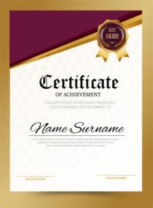 Premium Vector | Certificate Template Design A4 Size In Quality Certificate Template Size