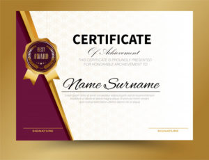 Premium Vector | Certificate Template Design A4 Size Pertaining To Quality Certificate Template Size