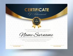 Premium Vector | Certificate Template Design A4 Size With Certificate Template Size