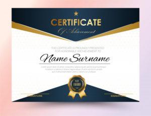 Premium Vector | Certificate Template Design A4 Size With Regard To Certificate Template Size