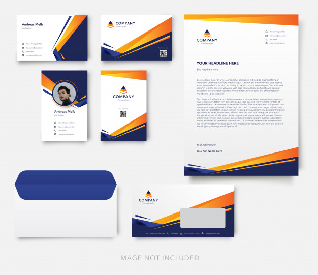 Premium Vector | Modern Business Card With Letterhead And Intended For Quality Business Card Letterhead Envelope Template