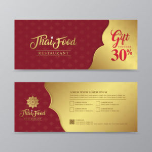 Premium Vector | Thai Food And Thai Restaurant Gift Voucher Within Best Restaurant Gift Certificate Template