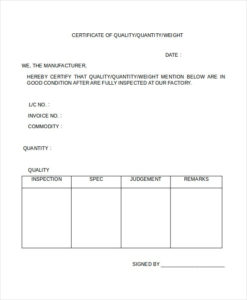 Printable Certificate Template 21+ Free Word, Pdf Inside Certificate Of Inspection Template