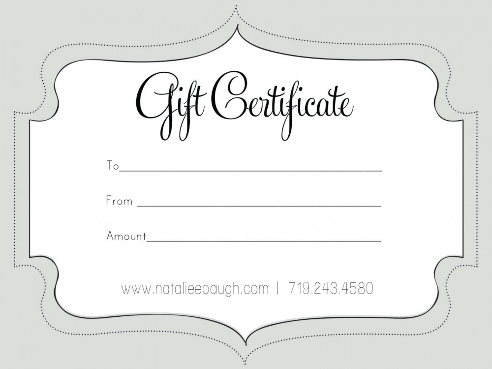 Printable Fillable Gift Certificate Template Custom With Fillable Gift Certificate Template Free