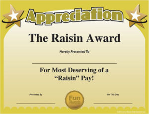 Printable Funny Work Awards Certificate Of Appreciation Pertaining To Fun Certificate Templates