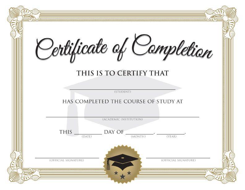 Printable Graduation Certificate Template Diploma (792 Inside 11+ Graduation Certificate Template Word