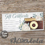 Printable Photography Gift Certificate Template Photo Intended For 11+ Free Photography Gift Certificate Template