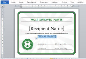 Printable Sports Certificate Template For Word With Soccer Certificate Templates For Word
