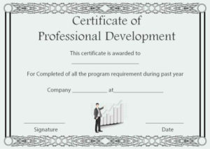 Professional Development Certificate Of Completion Template In Continuing Education Certificate Template