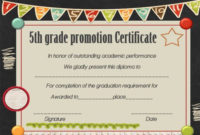 Promotion Certificate 5Th Grade Google Search | Graduation Inside 5Th Grade Graduation Certificate Template