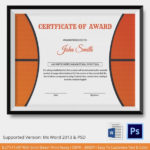 Psd | Free & Premium Templates | Basketball Awards, Awards With Basketball Certificate Template